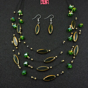 Betsey Johnson Fashion Jewelry Pretty Shining Crystal Pendant Necklace Earrings