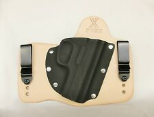FoxX Leather & Kydex IWB Hybrid Holster Smith & Wesson 3913/3914 Natural Right