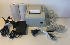 Epson Tm-T88Iii P M129C Pos Thermal Receipt Printer Tested W/ Power & Extras