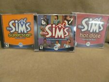 The Sims + 2 Expansions! PC Game for Win 95/98 (2000-2001)
