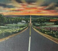 3 Lot c1930-40s Scenes Pennsylvania Turnpike Midway Postcards Linen Unposted