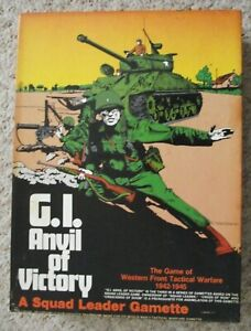 AVALON HILL ~ SQUAD LEADER ~ G.I. ANVIL OF VICTORY  ~ COMPLETE ~  UNPUNCHED