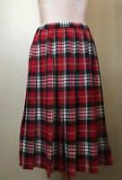 The Tog Shop Petites Womens Size 12P Skirt Pleated Res Tartan Plaid