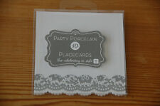 Pack of 10 Lace Place Cards, Tableware Placecards, Party Decorations (D6D)
