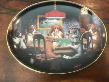 Dogs Playing Poker! The Franklin Mint An Ace In The Hole Plate Hb3402