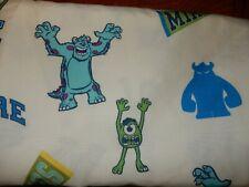 Disney MONSTERS INC University Toddler Bed Flat Sheet (Microfiber Fabric)