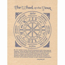 "Wheel of the Year Poster 8.5 x 11"" Parchment Print NEW Wicca Pagan Calendar Page"