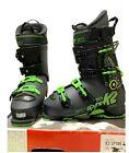 K2 SpYne 120 Size 26.5, 8.5 Ski Boots Alpine Men Black Green 100 Last 2018