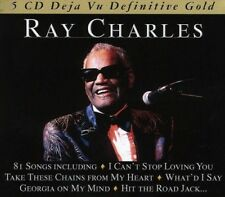 RAY CHARLES - DEFINITIVE GOLD- BOX-SET 5 CD NEUF