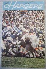 """39 SIGNED!! 1965 SAN DIEGO CHARGERS 18x12 """"CHARGERS"""" SPORTS PICTORIAL MAGAZINE"""