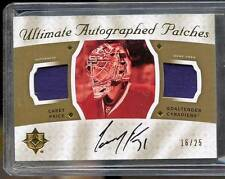 2008-09 Ultimate CAREY PRICE ON-CARD AUTO DUAL PATCH #16/25