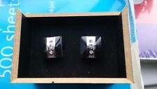black and silver cufflinks with 3 jewels Lloyd Attree & Smith normally sells 20+
