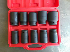 "10 pcs 3/4"" Deep Impact Socket Set 24 - 46mm with plastic case"