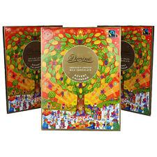 3 X divine smooth milk chocolate fairtrade advent calendars / quality advent