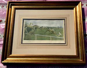 Cecil Aldin Original Vintage Signed Print of The Grand National Horse Race
