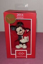 LENOX Disney Annual Mickey Christmas Ornament 2014 Merry Little Mouse Mickey