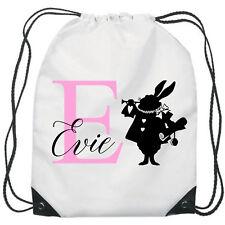 Personalised Alice in Wonderland Gym Bag PE Dance Sports School Swim Waterproof