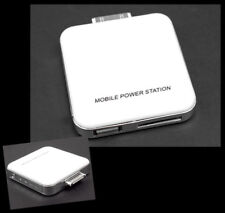 2200MAH PORTABLE EXTERNAL WHITE BATTERY CHARGER USB IPHONE 4S 4 3GS IPOD NANO