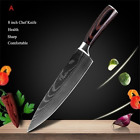 Kitchen Chef's Knife Set Stainless Steel Damascus Pattern Sharp Cleaver Tools