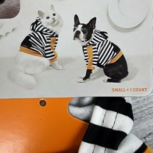 TARGET Hyde & Eek Halloween Fall Pet Dog Cat Cropped Hoodie Outfit Size Small