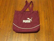 Women's Puma Big Logo Plum White Gym Tote Bag