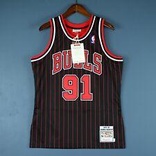 100% Authentic Dennis Rodman Mitchell & Ness 95 96 Pinstripe Jersey Size 40 M