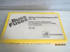 "BUSSMANN-Midget-Emergency-Fuse-Kit--FNQ-R-KTK-R-13/32-x-1.5""NEW LOT of 168 fuses"
