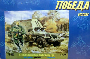 BTR 152 S Comand and Soviet Army Figs kit pastico escala 1/72