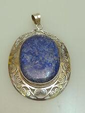 Vintage xxl Lapis pendentif argent rare homologue lapis lazuli