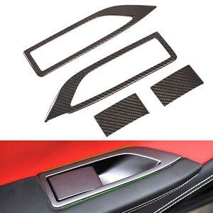 Real Carbon Fiber Window Lift Button Cover Trim Fit for Ferrari 458 2011-2016