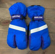 Vintage Pearl Izumi Lobster Winter Cycling Gloves RETRO Blue Purple Mens XS
