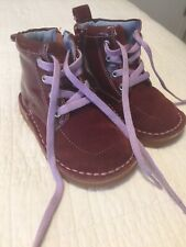 Livie and Luca BOOTS Size 7 Toddler Burgundy Suede Lace Up EXCELLENT CONDITION