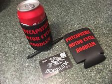 2 flat coolers UP THE VLAD LAWS Outlaw Biker stubby coolers Harley triumph