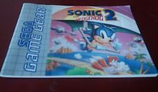 livret SEGA GAME GEAR SONIC 2 THE HEDGEHOG