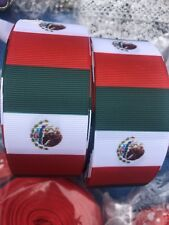 """Grossgrain paint Mexico Flag Ribbons 1""""5 !"""