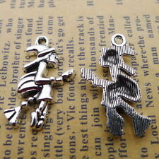 5 x Tibetan Silver FLYING STORK /& BABY CHRISTENING Charms Pendants Beads