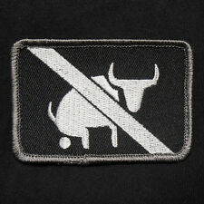 I TAKE NO BULLSHIT ARMY MORALE MILITARY TACTICAL USA ISAF OPS SWAT IRON ON PATCH