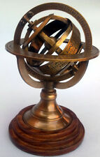 ANTIQUE BRASS ARMILLARY SPHERE COMPASS NAUTICAL REPRODUCTION DECOR GLOBE 5""
