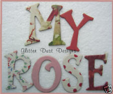 "Making Memories *ViNTAGE ROSE* Chipboard Letters 1.5"" Tall"