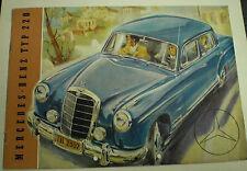MERCEDES Benz type 220 ponton de 1954 données techniques prospectus sales brochure