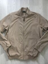 COTTON TRADERS MEN'S HARRINGTON JACKET TAUPE CHECK LINING SIZE M AA