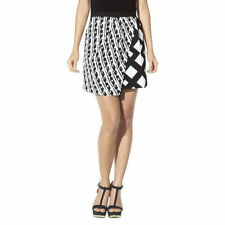 PETER PILOTTO for TARGET Black and White Print Pleated Wrap Skirt Size 14 Miini