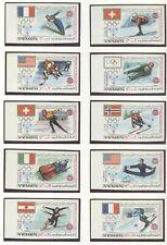 YEMEN Kingdom Olympic Games 1968 Grenoble imperforated set + block  MNH