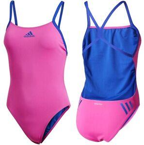 Adidas Perf Swim Infinitex Girls Swimsuit Sports Swimsuit Kids Pink/Blue