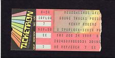 1986 Kenny Rogers Oak Ridge Boys Sylvia Concert Ticket Stub Meadowlands NJ