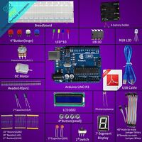 Adeept Starter Kit for Arduino UNO R3 with Guidebook LCD1602 Breadboad DC Motor