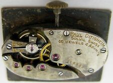 vintage Swiss oval Watch Movement P. Ditisheim & Solvil 16 j. for part ...