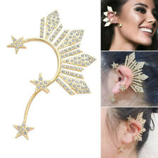 Lovely Star  Ear Clip Earrings Women's Girl's  Crystal Big Ear Cuff Accessories
