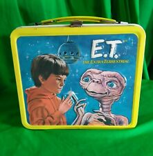 E.T. -  ET 1982 Vintage Metal Lunchbox with plastic Thermos Great Condition