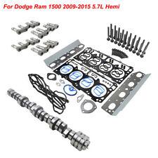 Camshaft Mds Valve Lifters Head Gaskets Kit For Ram 1500 5.7L V8 2011-2016 Hemi